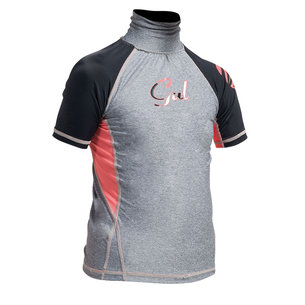 GUL GIRLS FL SHORT SLEEVE RASHGUARD
