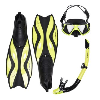Mask Snorkel And Fin Set Adults
