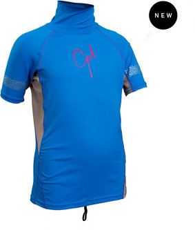 GIRLS FL SHORT SLEEVE RASHGUARD
